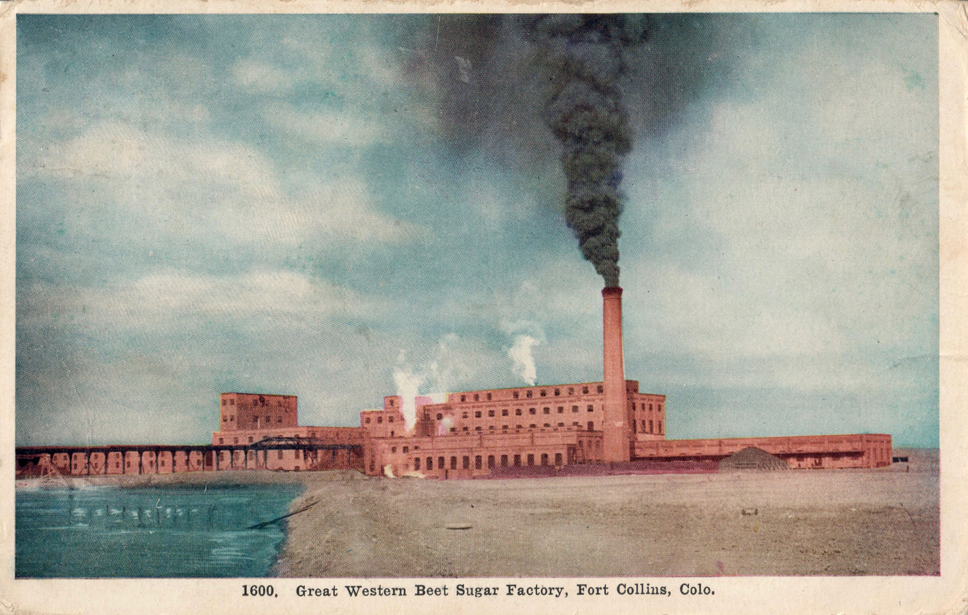 Photo: Sugar Beet Factory Postcard