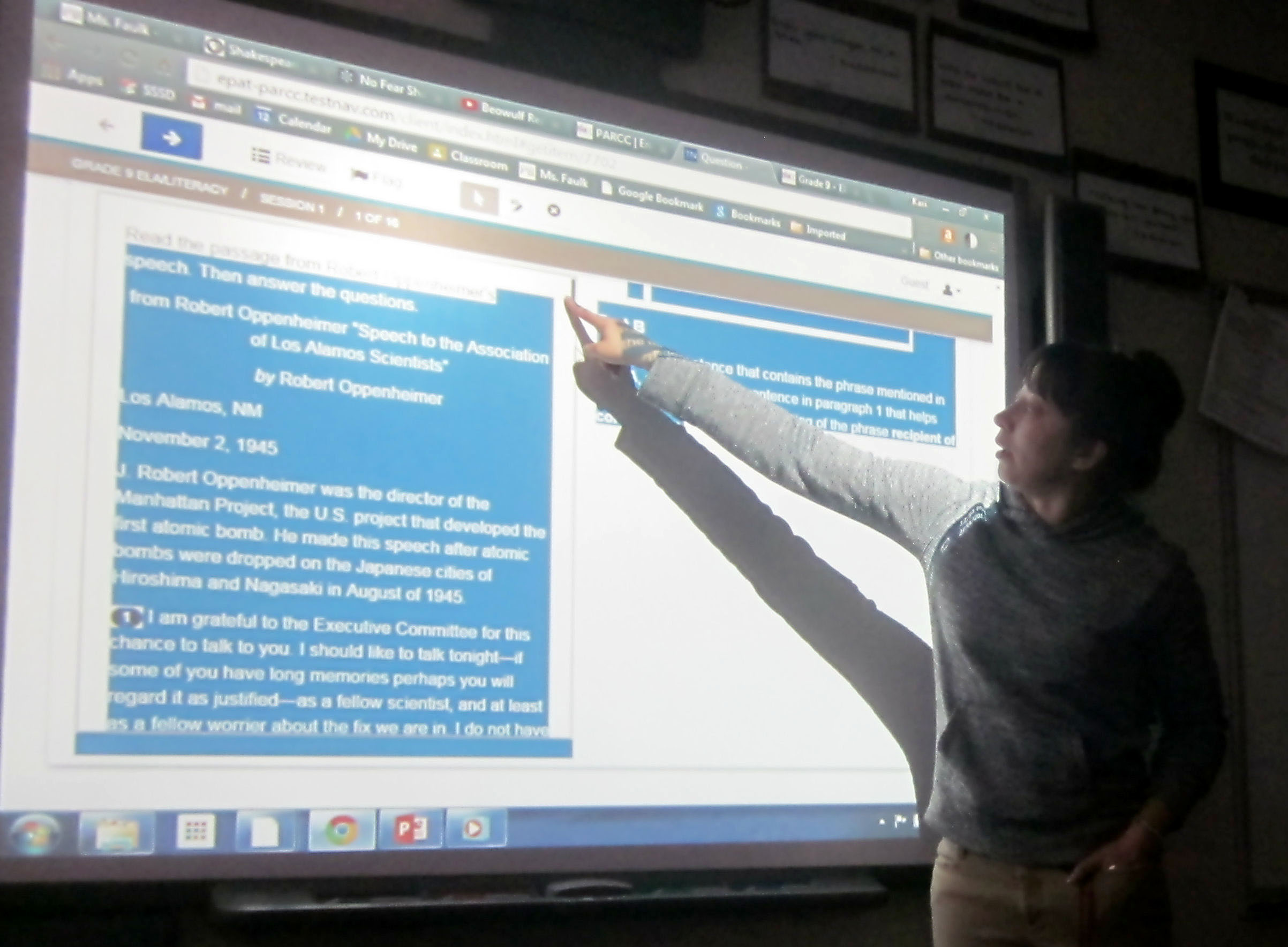 Photo: Steamboat Springs teacher Kari Faulk preps kids for PARCC