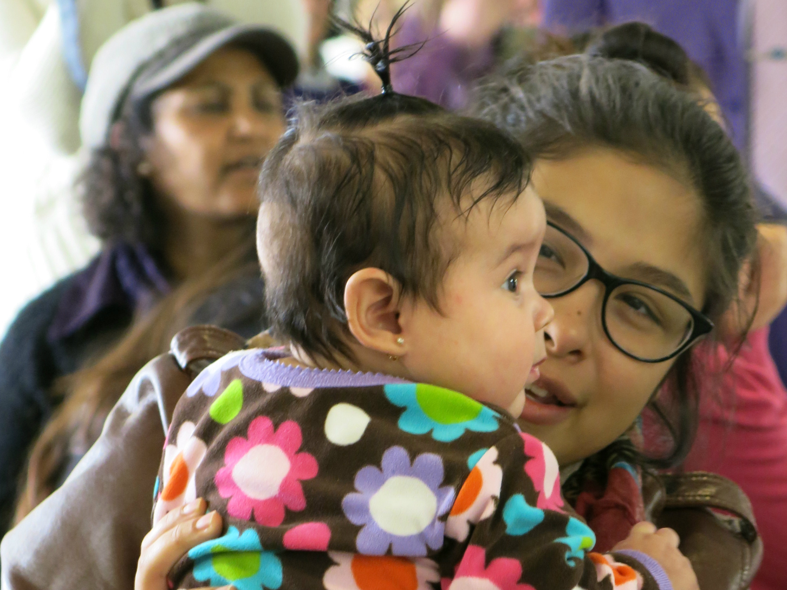 Photo: teen mother at Florence Crittenton
