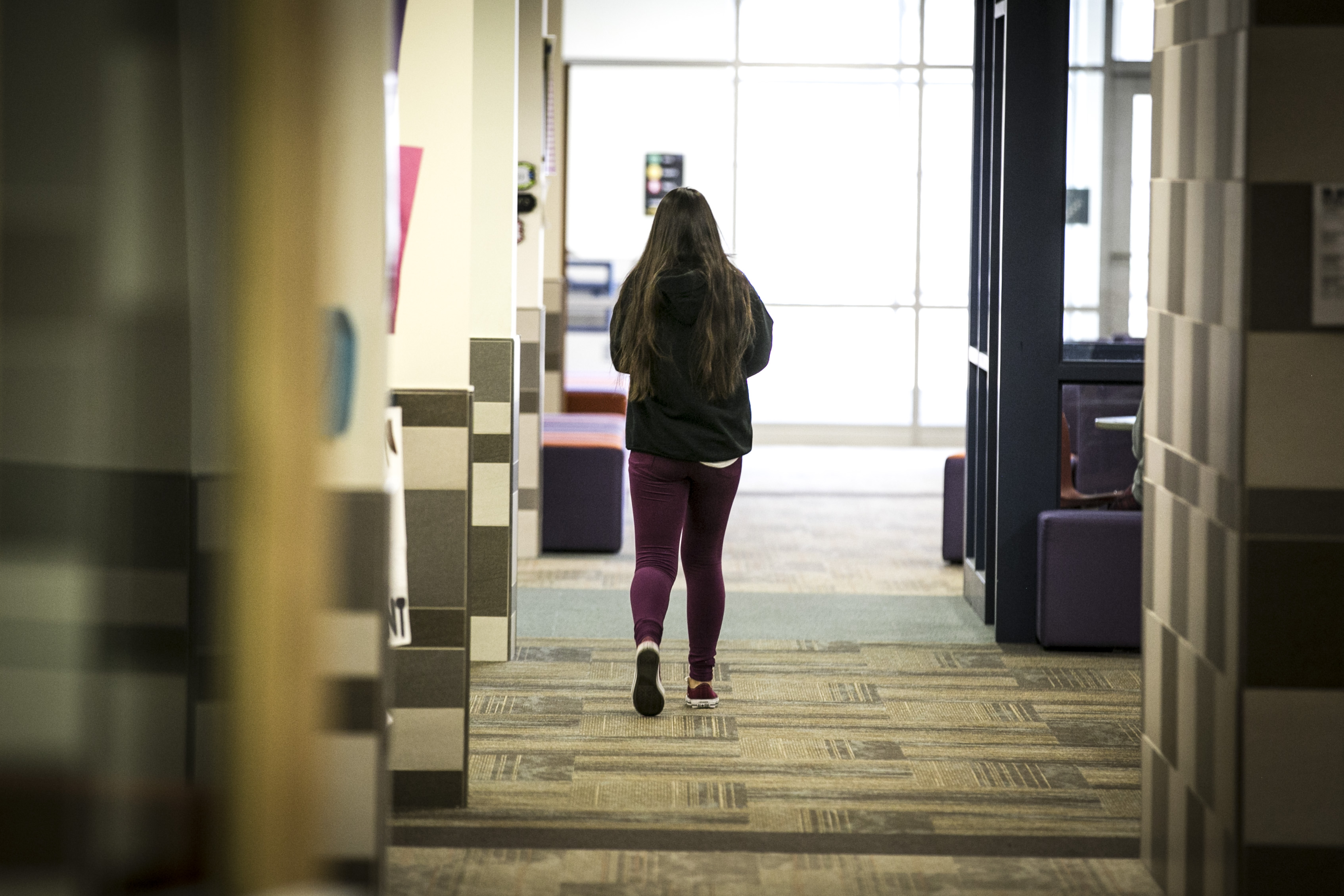 Photo: Fort Logan Northgate student 1 | Walking Down Hall