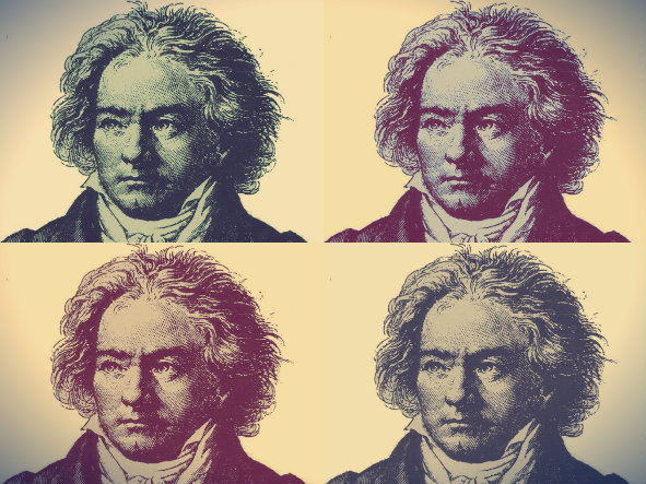 Photo: Beethoven times four illustration