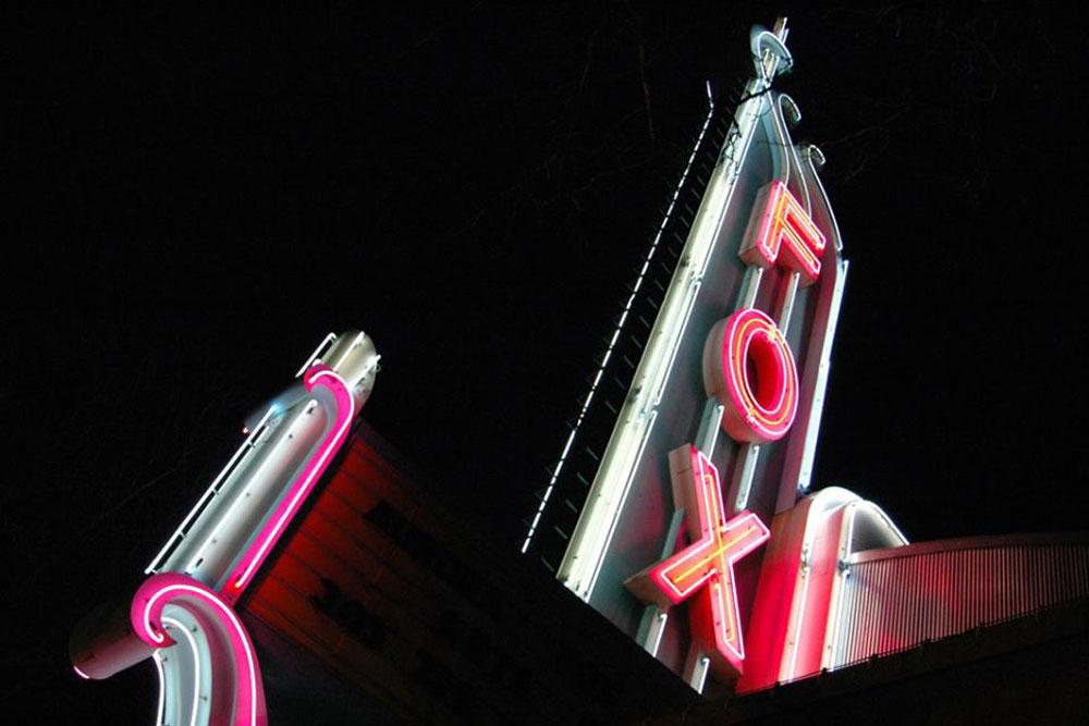 Photo: Aurora Fox Arts Center Neon At Night - Courtesy