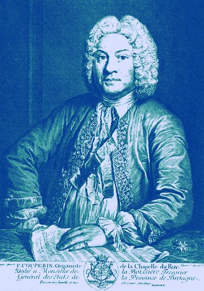Francois Couperin blue duotone