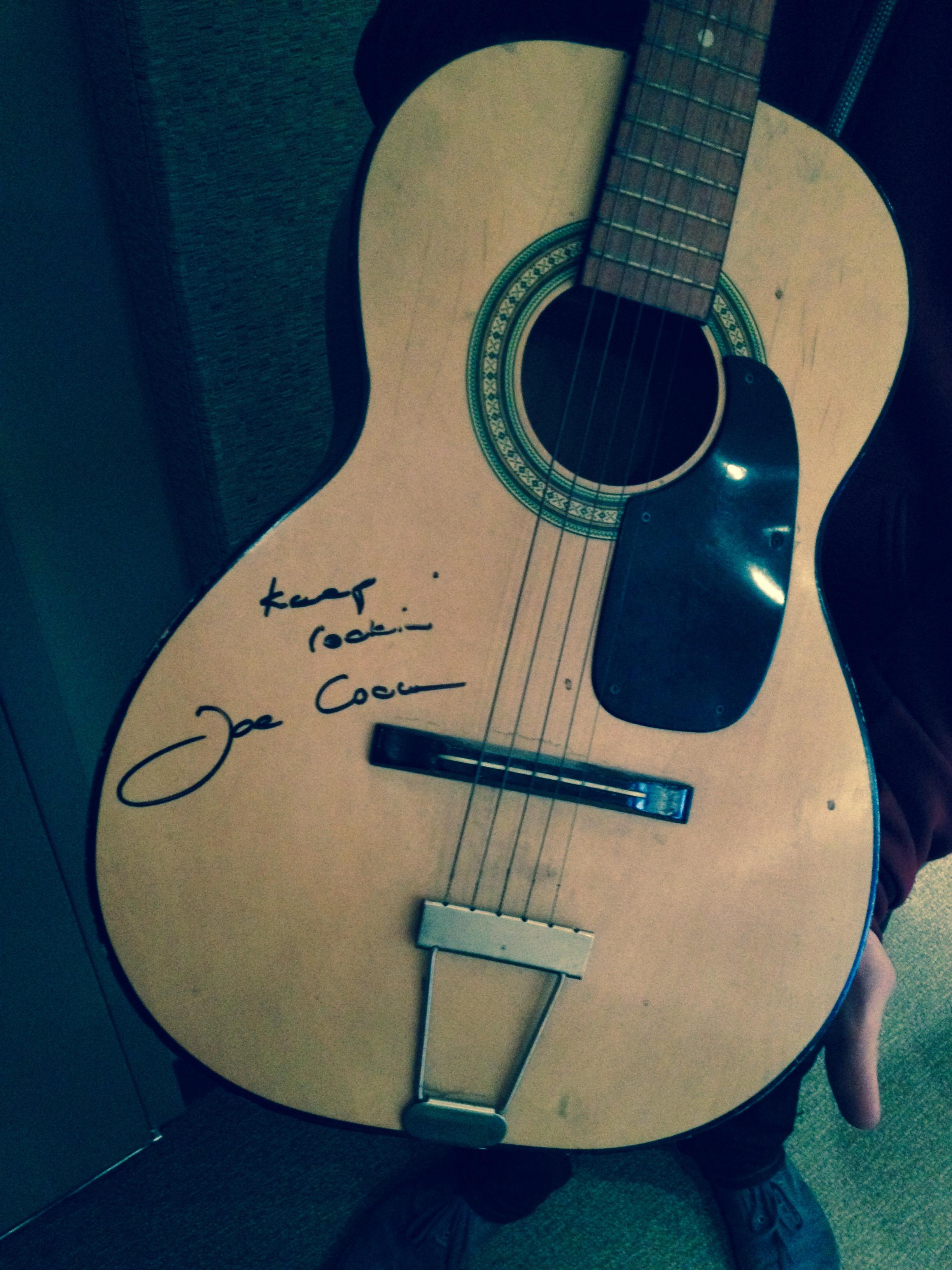 Photo: Joe Cocker signed guitar