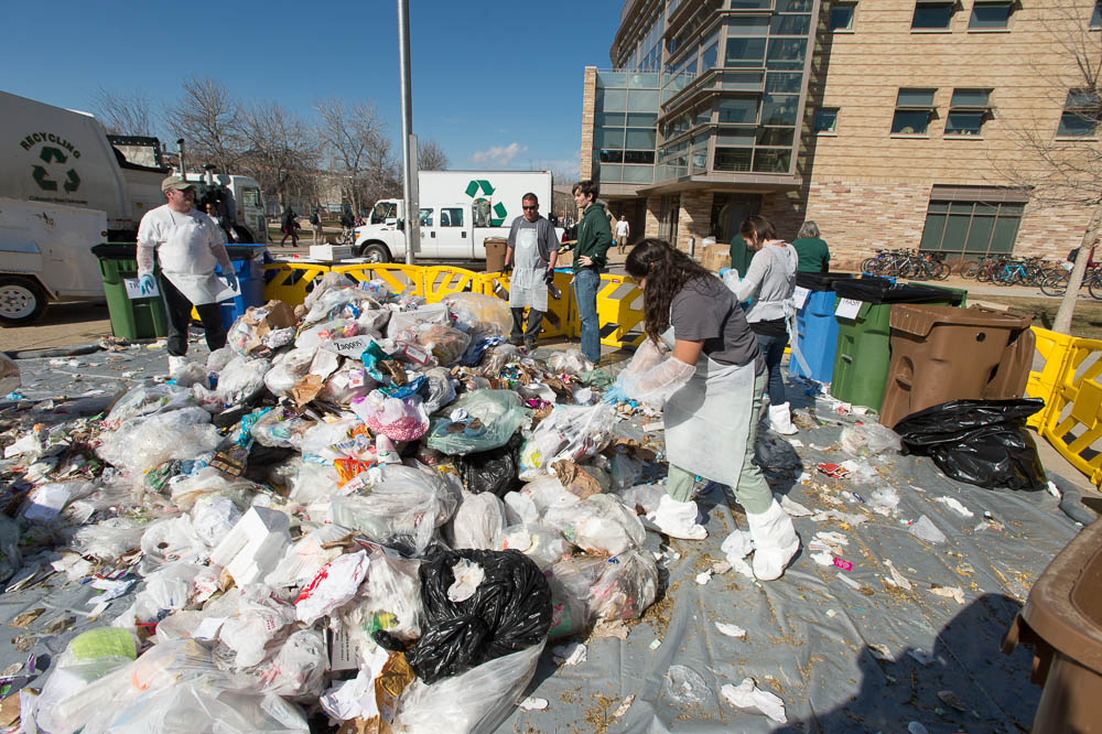 Photo: waste audit Colorado State University 1