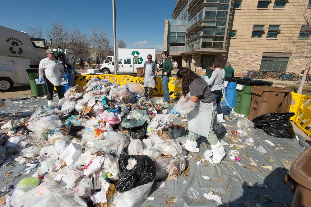 Photo: waste audit Colorado State University 1