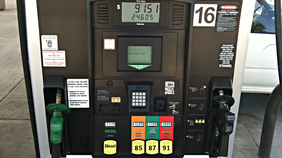 Photo: Gas prices pump