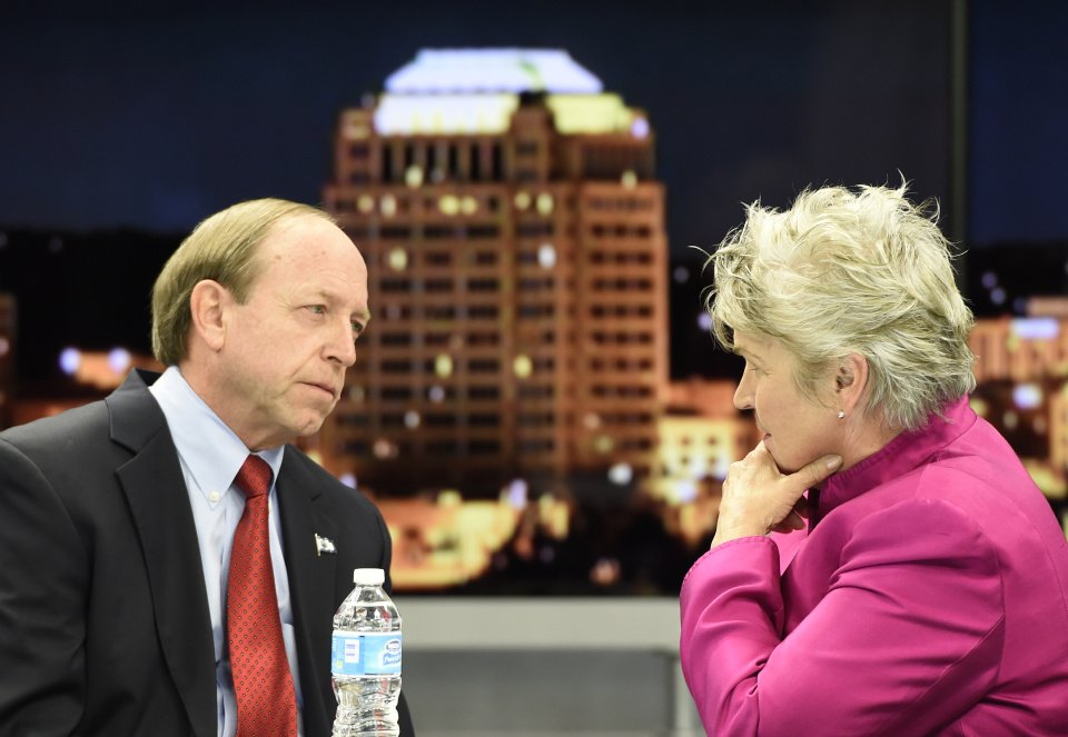John Suthers and Mary Lou Makepeace Colorado Springs mayoral debate
