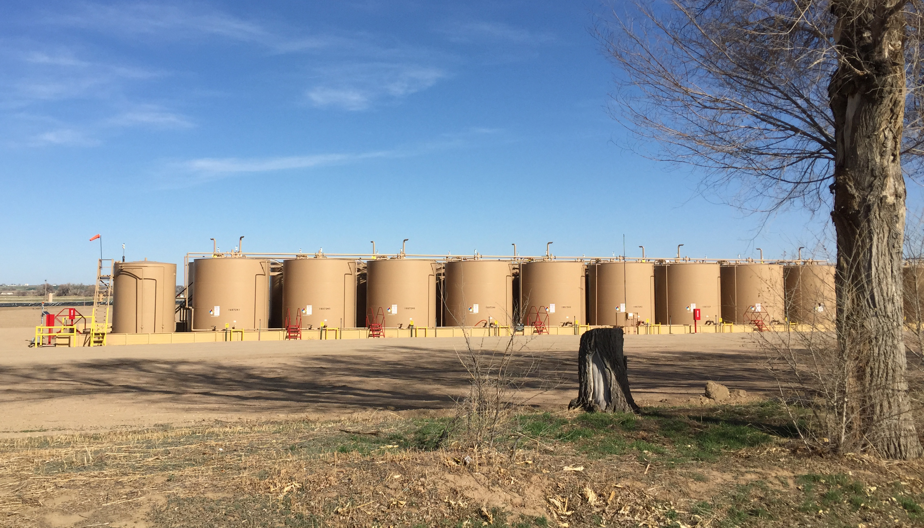 Photo: Natural gas storage tanks, Noble Energy, north of Greely