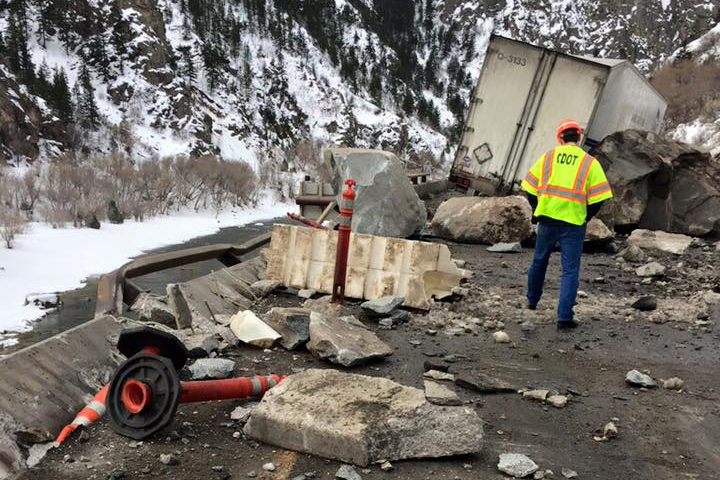 Photo: Glenwood Canyon Rock Slide (CDOT)