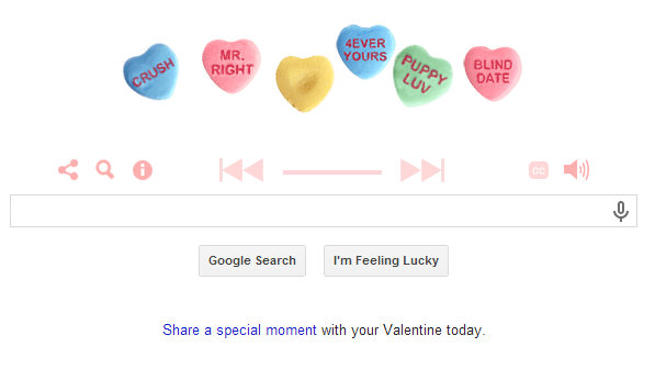 Photo: Google Valentine Doodle