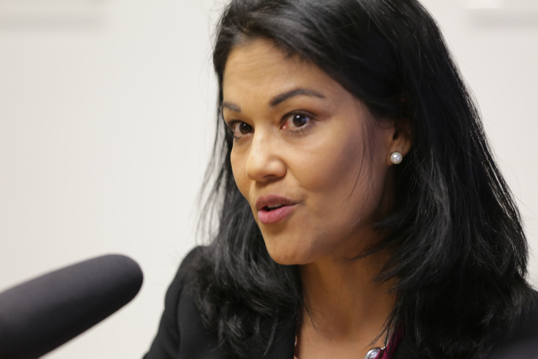 Photo: GOP Debate Panel, Pauline Olvera (HV, CM)
