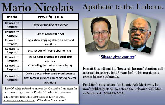 Photo: Gosnell flier