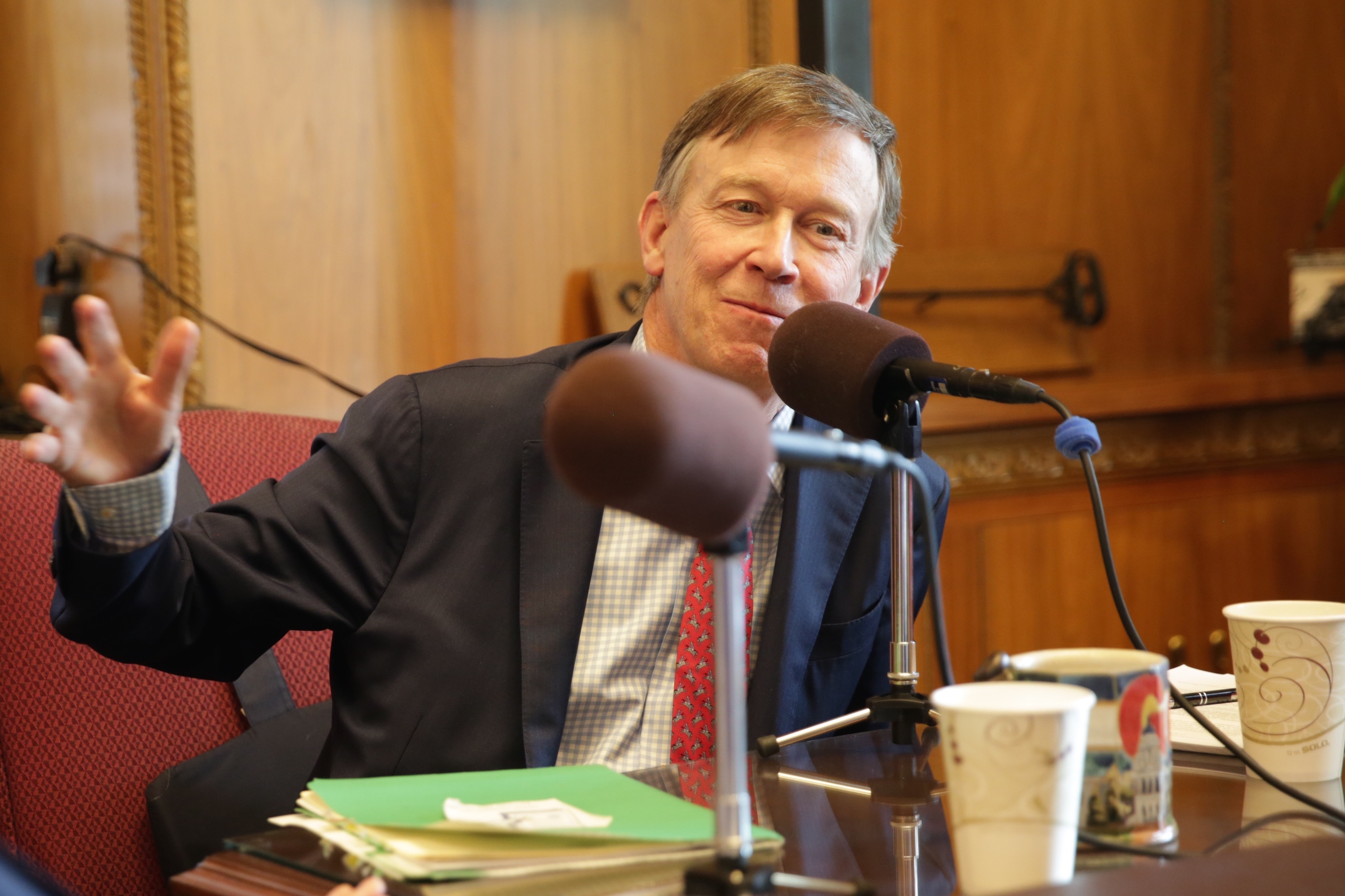 Photo: Gov. John Hickenlooper in his office Nov. 27. 2017
