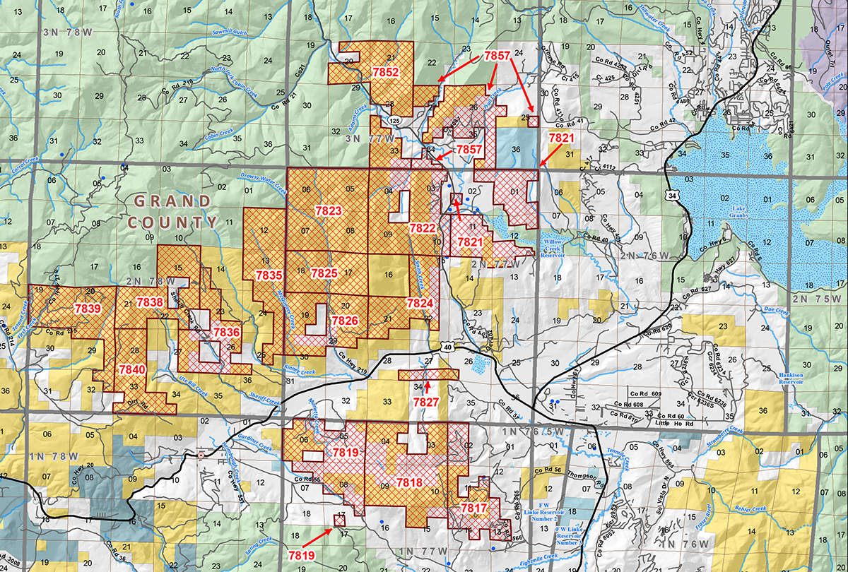 Map: BLM Grand County leases