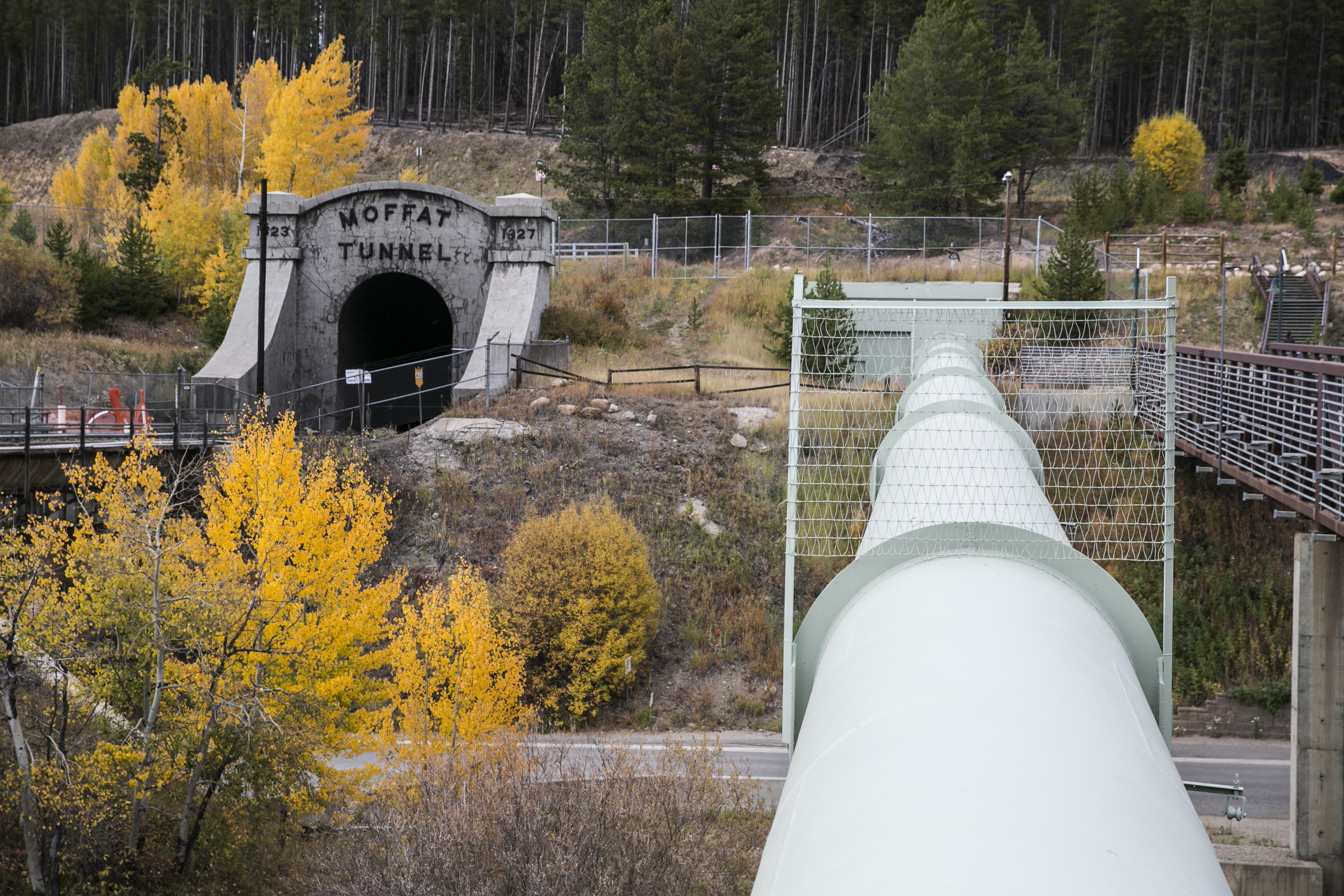 Western Slope water travels through the Moffat Tunnel at the base of Winter Park Resort and comes out east of the Continental Divide near Rollinsville, Colorado. It eventually is treated at a Denver Water plant in Lakewood before being delivered to taps across the metro area.