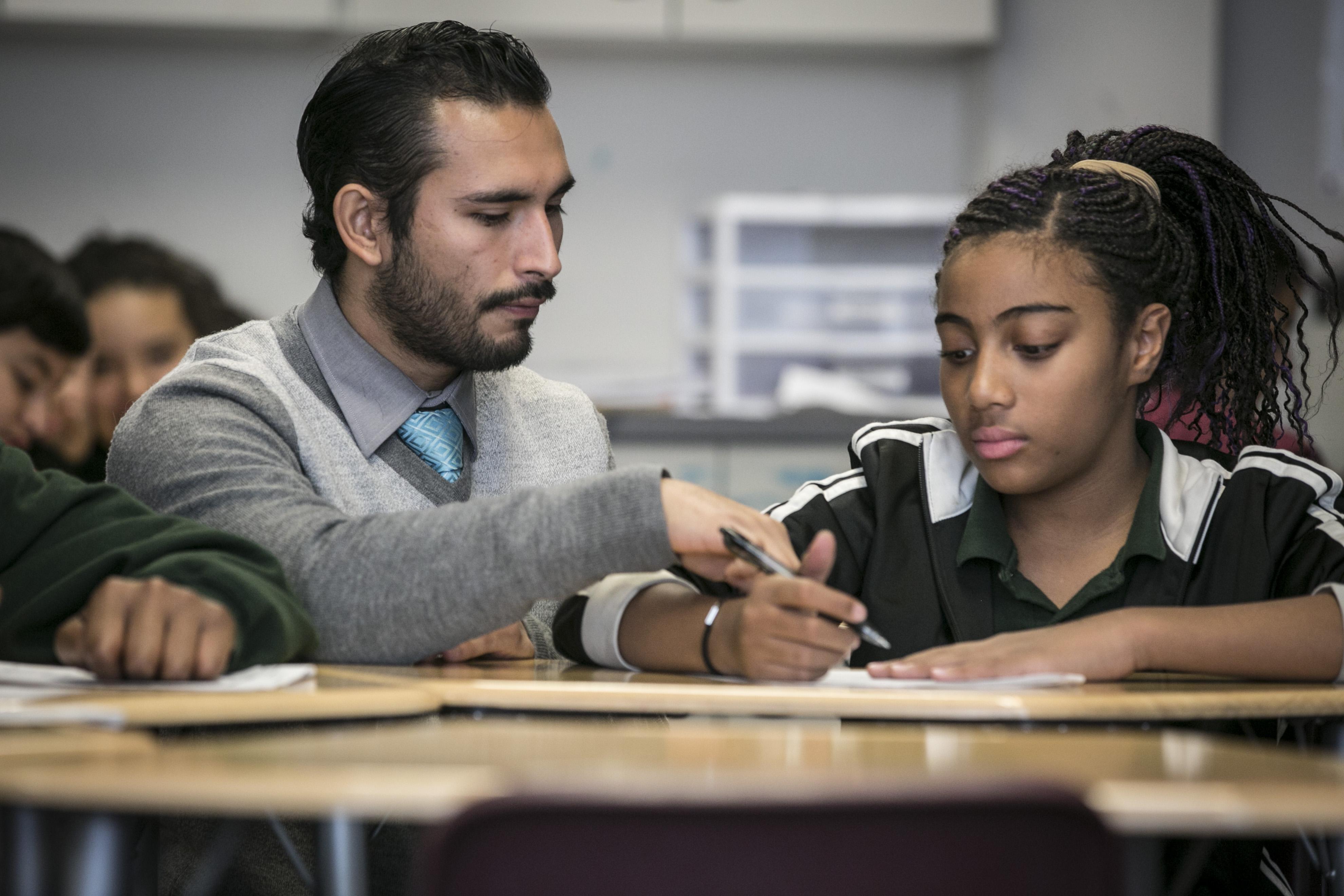 Photo: Denver teachers post-Trump 2 | Alejandro Fuentes