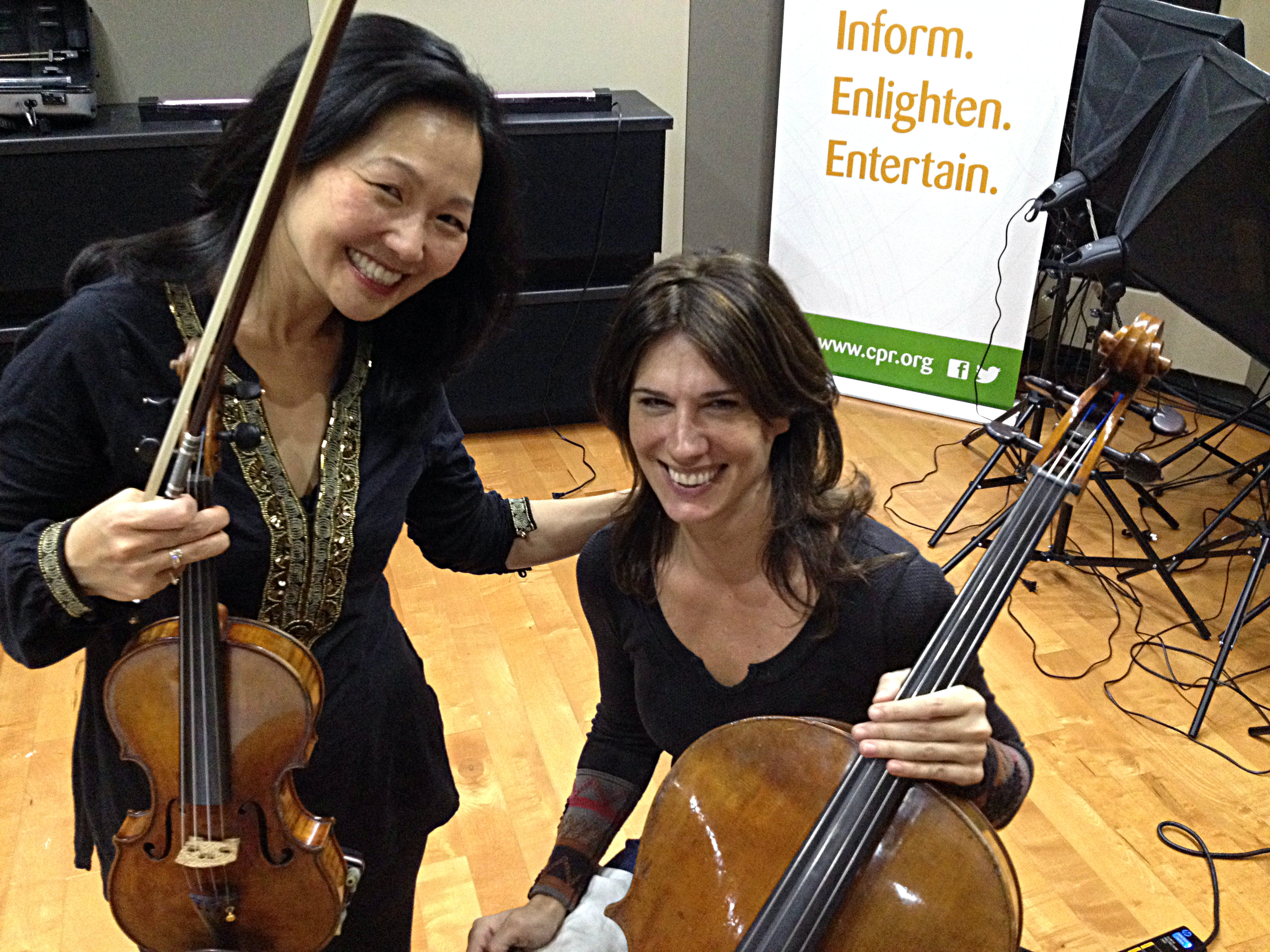 Photo: Yumi Hwang-Williams and Wendy Sutter in the CPR Performance Studio