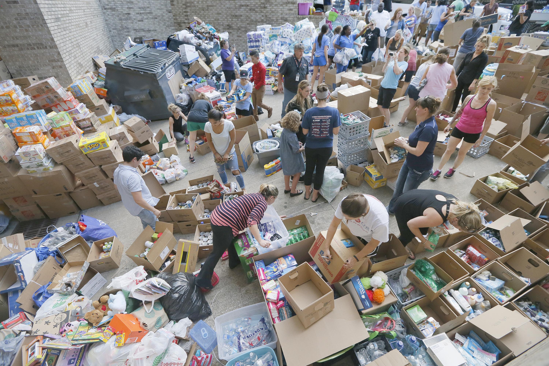 Photo: Hurricane Harvey Donations (AP Photo)