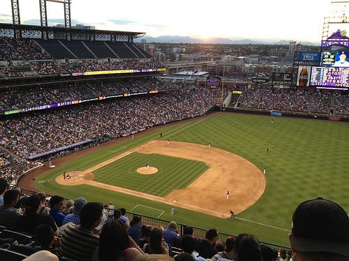 Photo: Baseball at Coors field (stock image)
