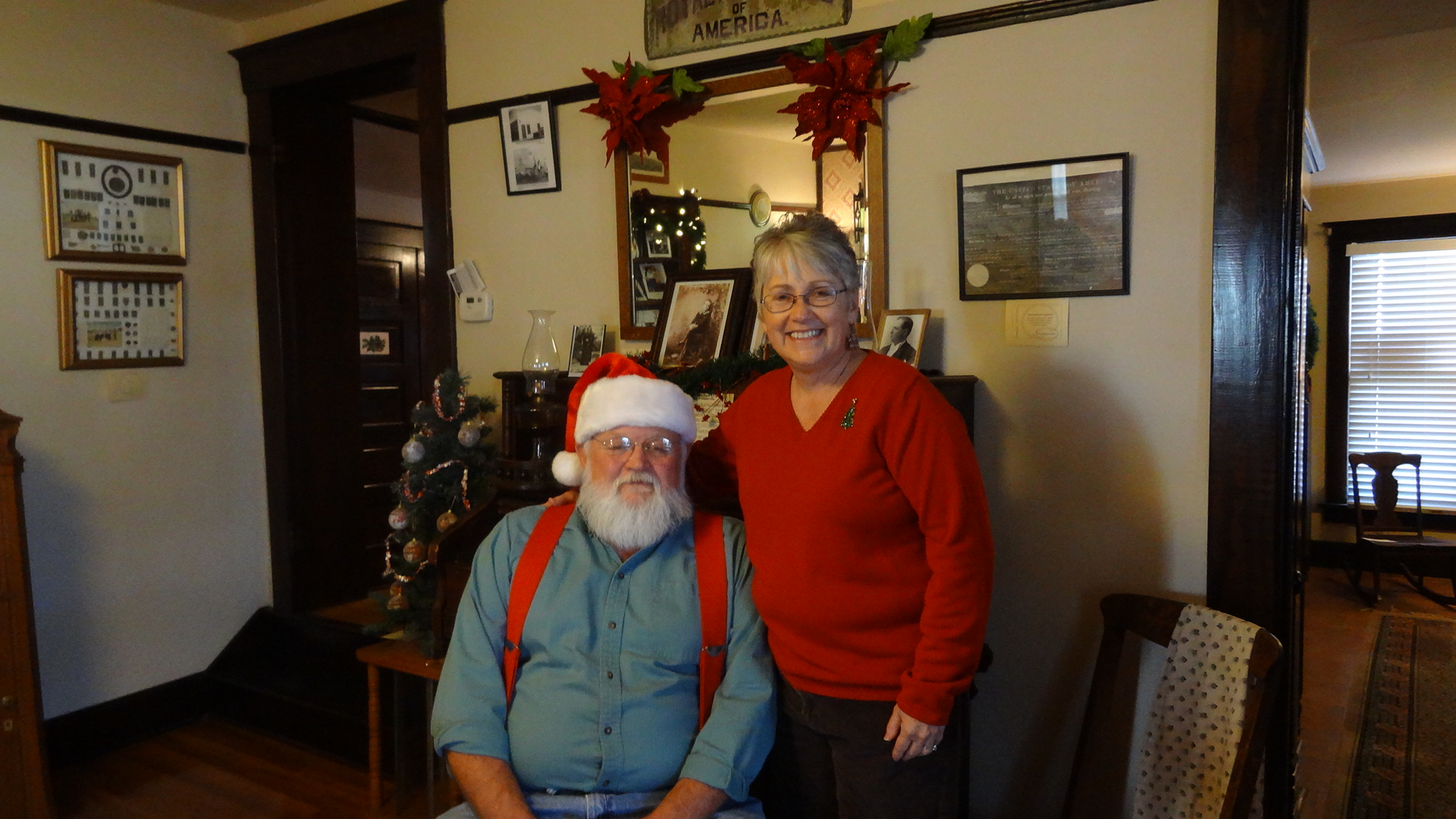 Photo:Santa and Mrs. Claus at Hedlund House in Hugo, CO