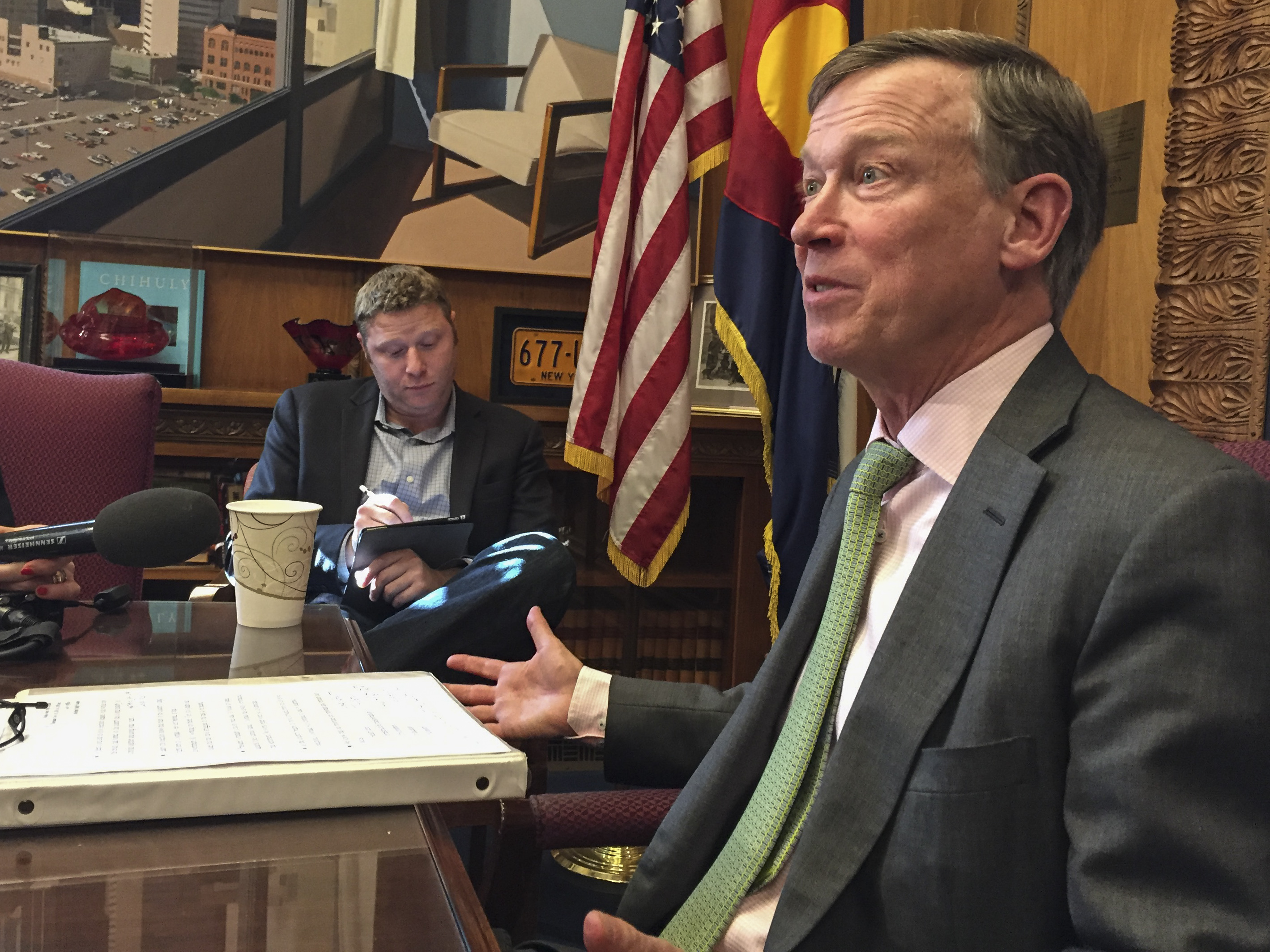 Photo: Gov. John Hickenlooper Nov 2016 (Staff)