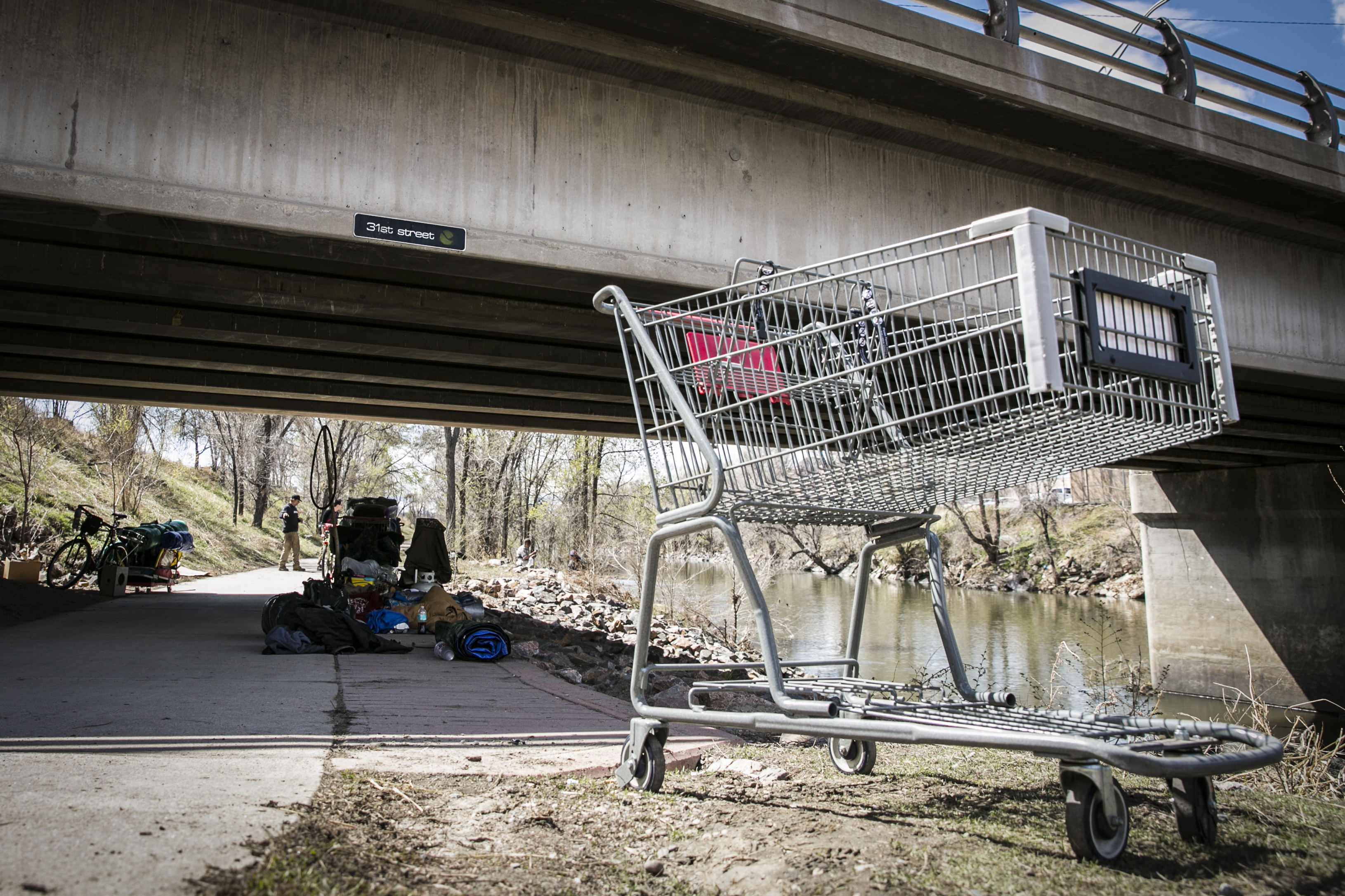 Photo: Denver Homeless 1 | Cart near Platte