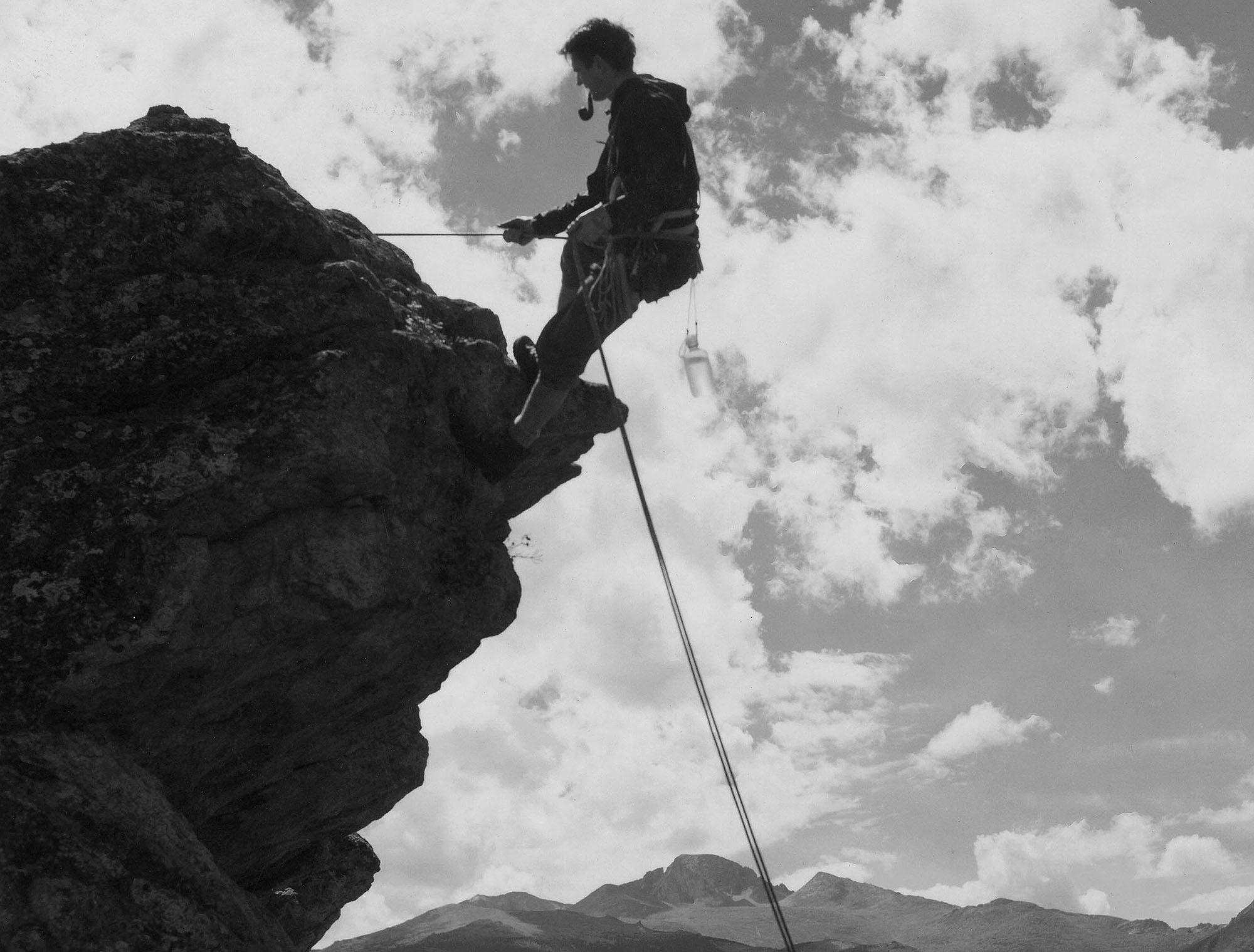 Photo: Rocky Mountain National Park archive climber
