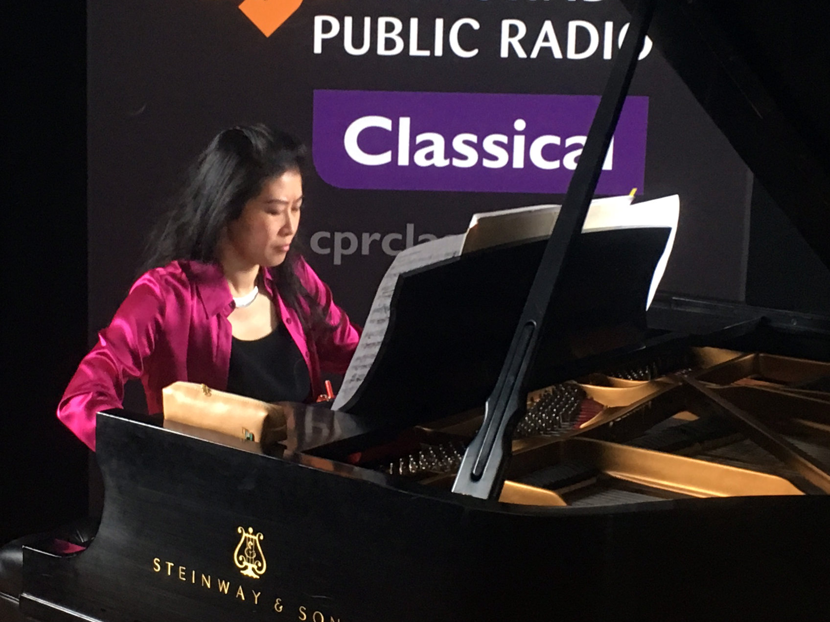 Photo: Hsing-ay Hsu performs in the CPR Performance Studio