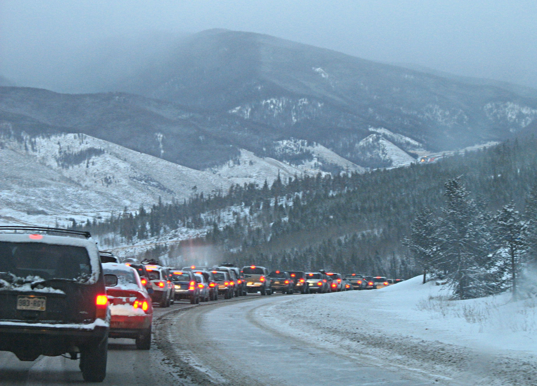 Photo: I-70 traffic between Frisco and Denver