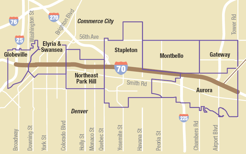 Clone of Photo: I-70 north Denver project map