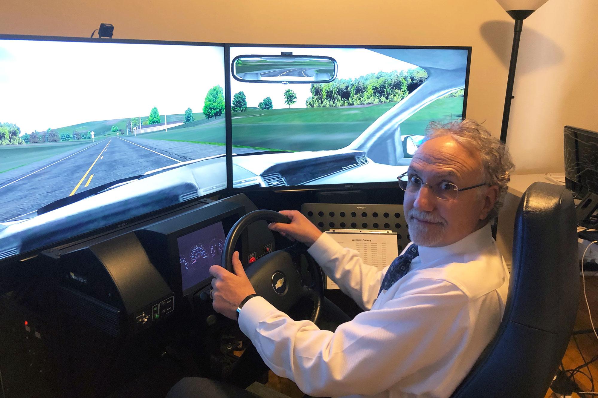 Photo: Michael Kosnett Marijuana Driving Simulator
