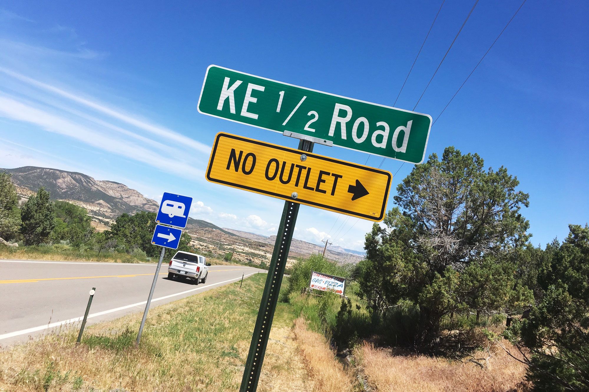 Photo: Grand Junction Mesa County Street Sign