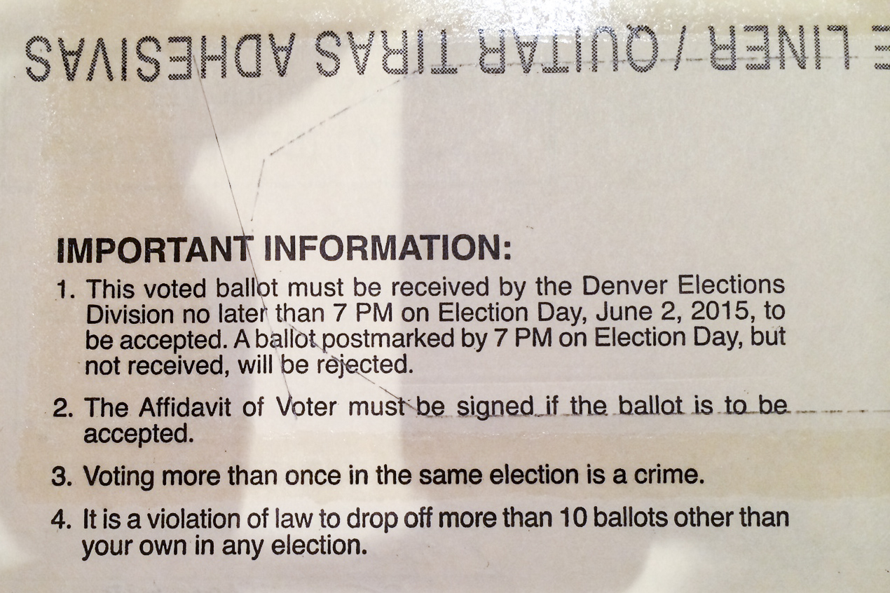 Photo: Denver election envelope