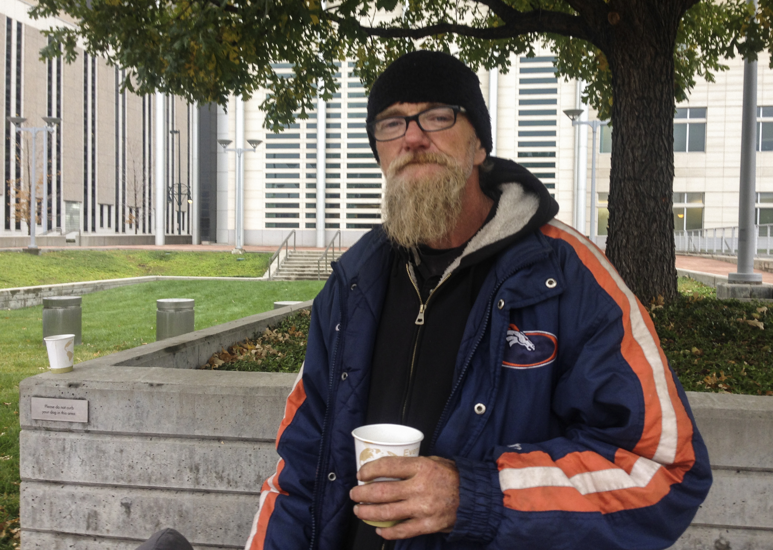 Photo: Garry Anderson, homeless plaintiff