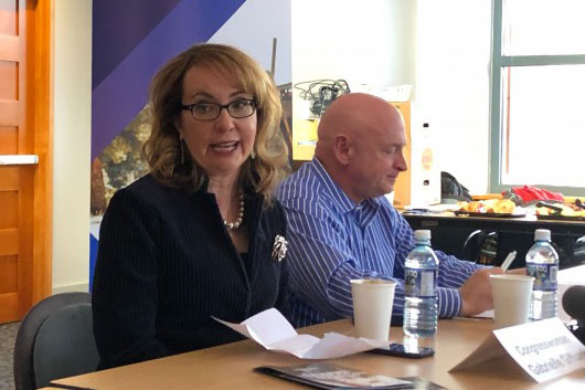 Photo: Gabby Giffords Mark Kelly | Colorado Coalition of Gun Owners Launch