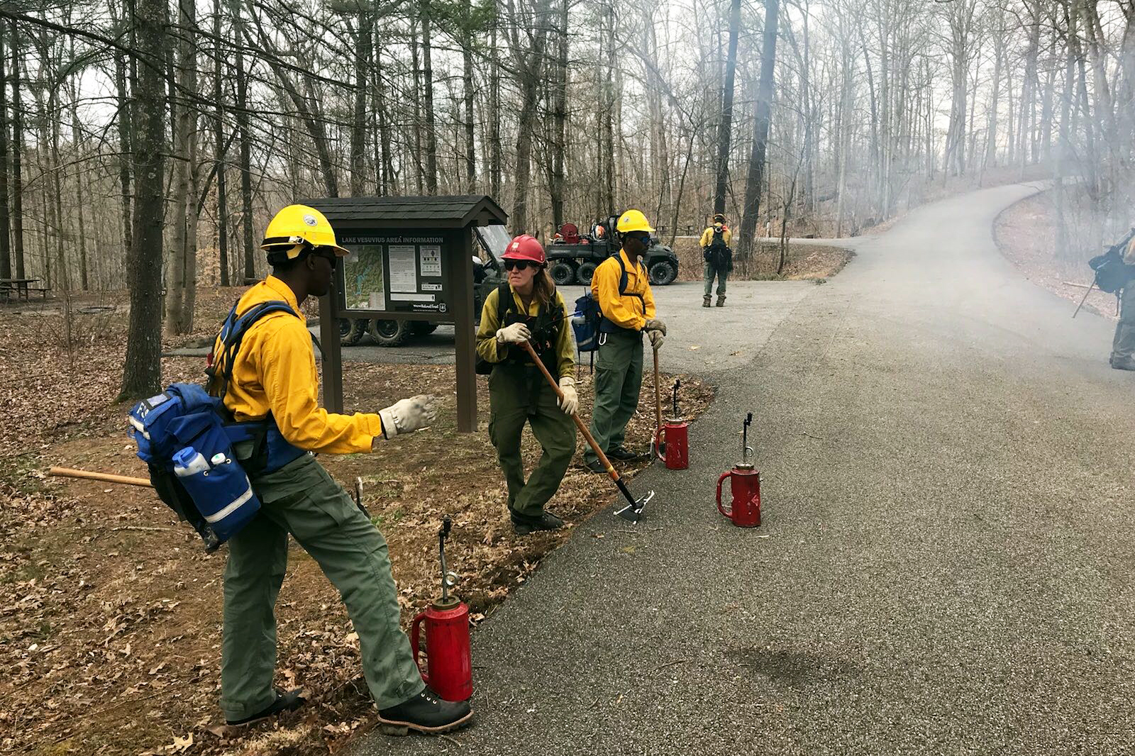 <p>Students from the Collbran Job Corps Civilian Conservation Center learn how to work on a firefighting team. Federal officials Wednesday reversed a decision to privatize the federal job center.</p>