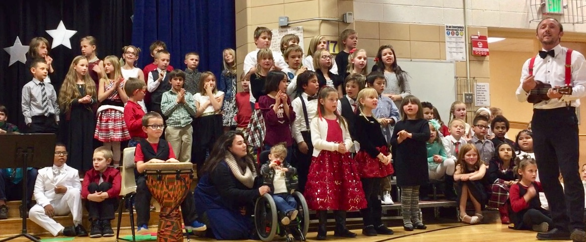 Photo: Fort Lewis Elementary School's 2017 Holiday Concert