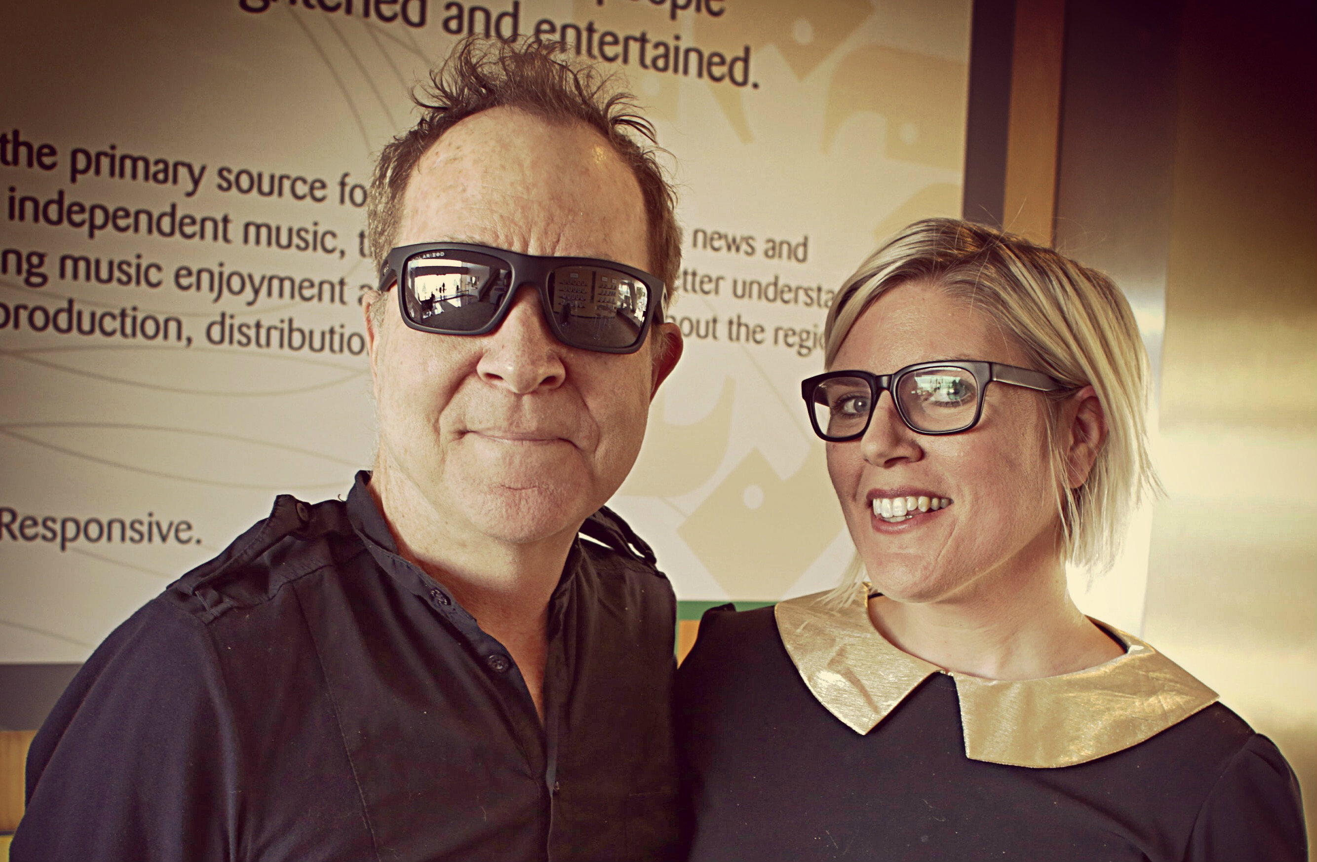 Photo: Fred Schneider of The B-52's and Alisha Sweeney crop