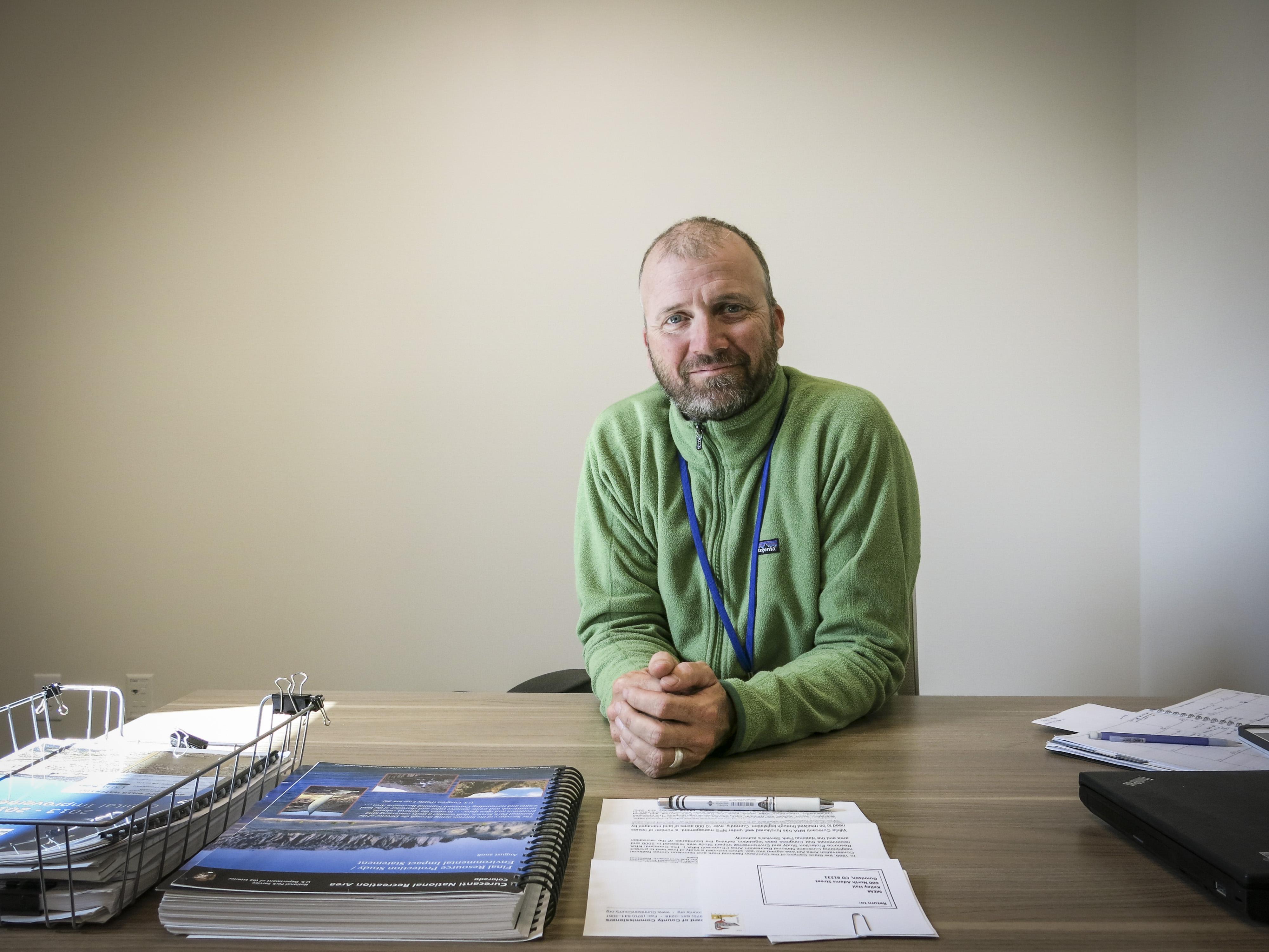 Photo: Gunnison County Commissioner Jonathan Houck (Staff)