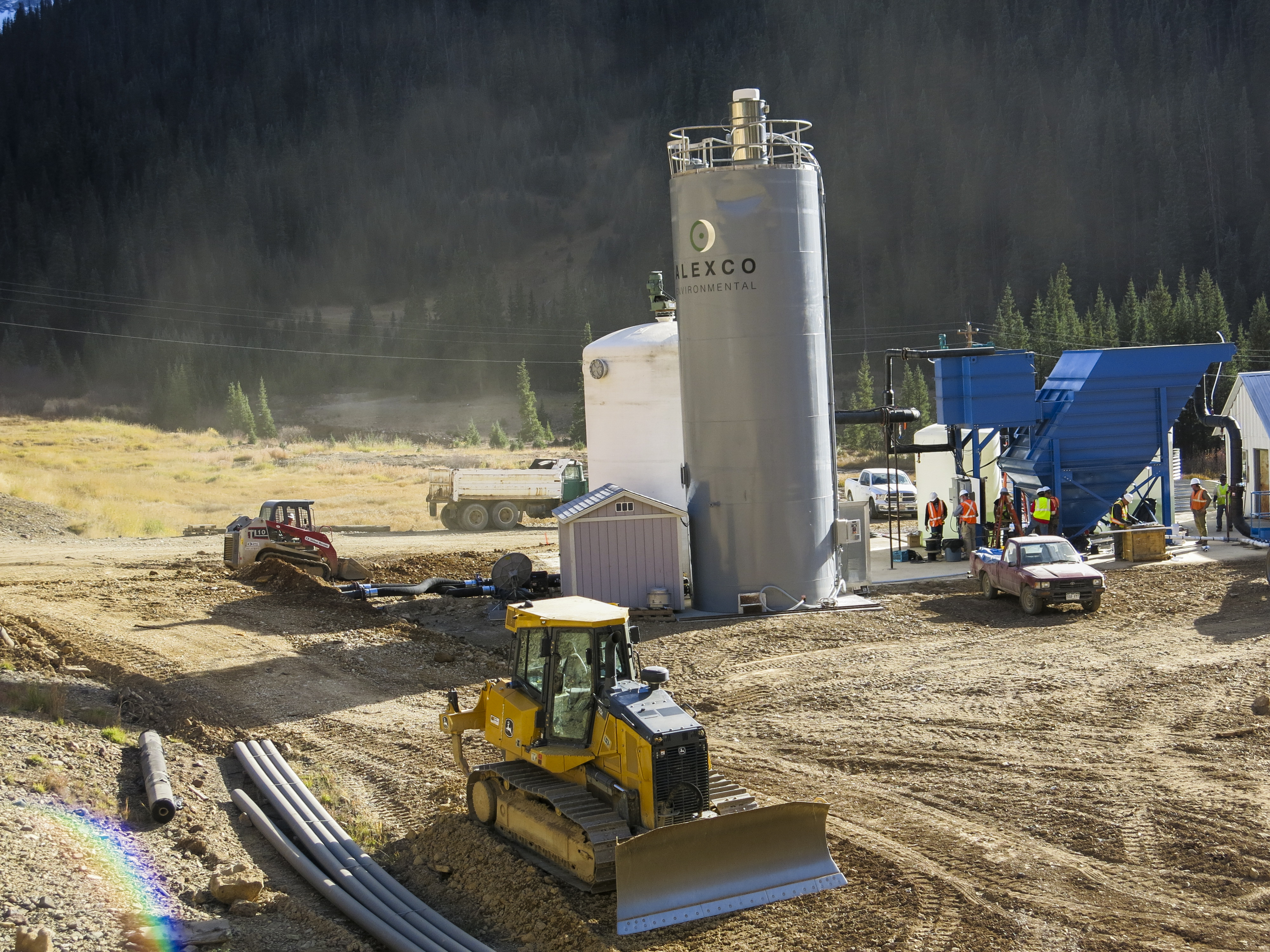 Photo: Temporary treatment plant at Gold King Mine (Staff)