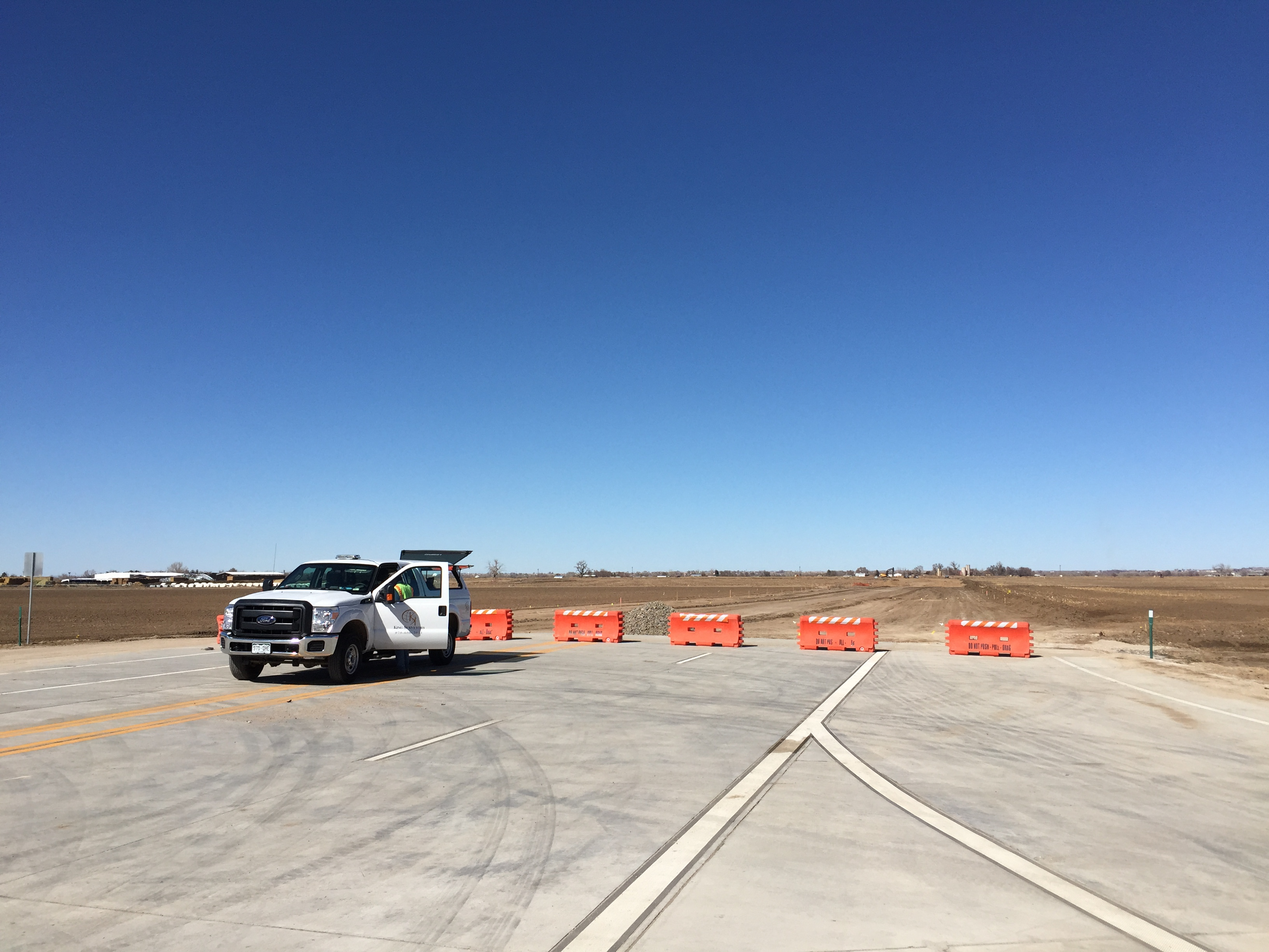 Weld County Road 49 construction