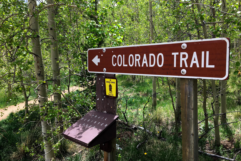 The Colorado Trail near Kenosha Pass.