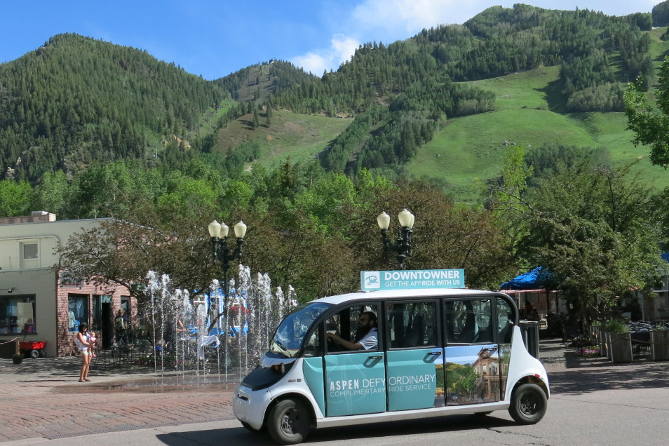 Photo: Aspen 100 Percent Renewable Energy Electric Van