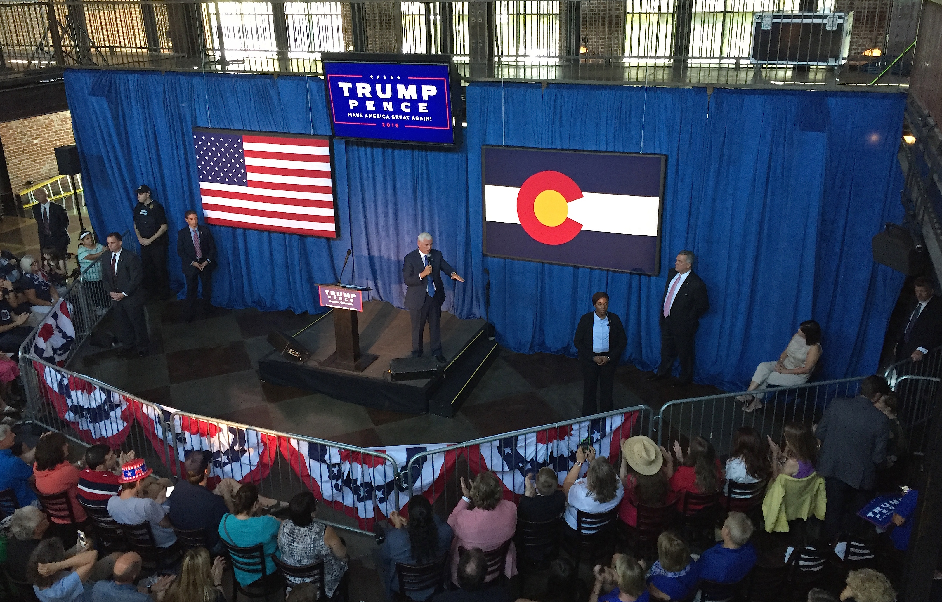 Photo: Mike Pence Campaigns In Denver