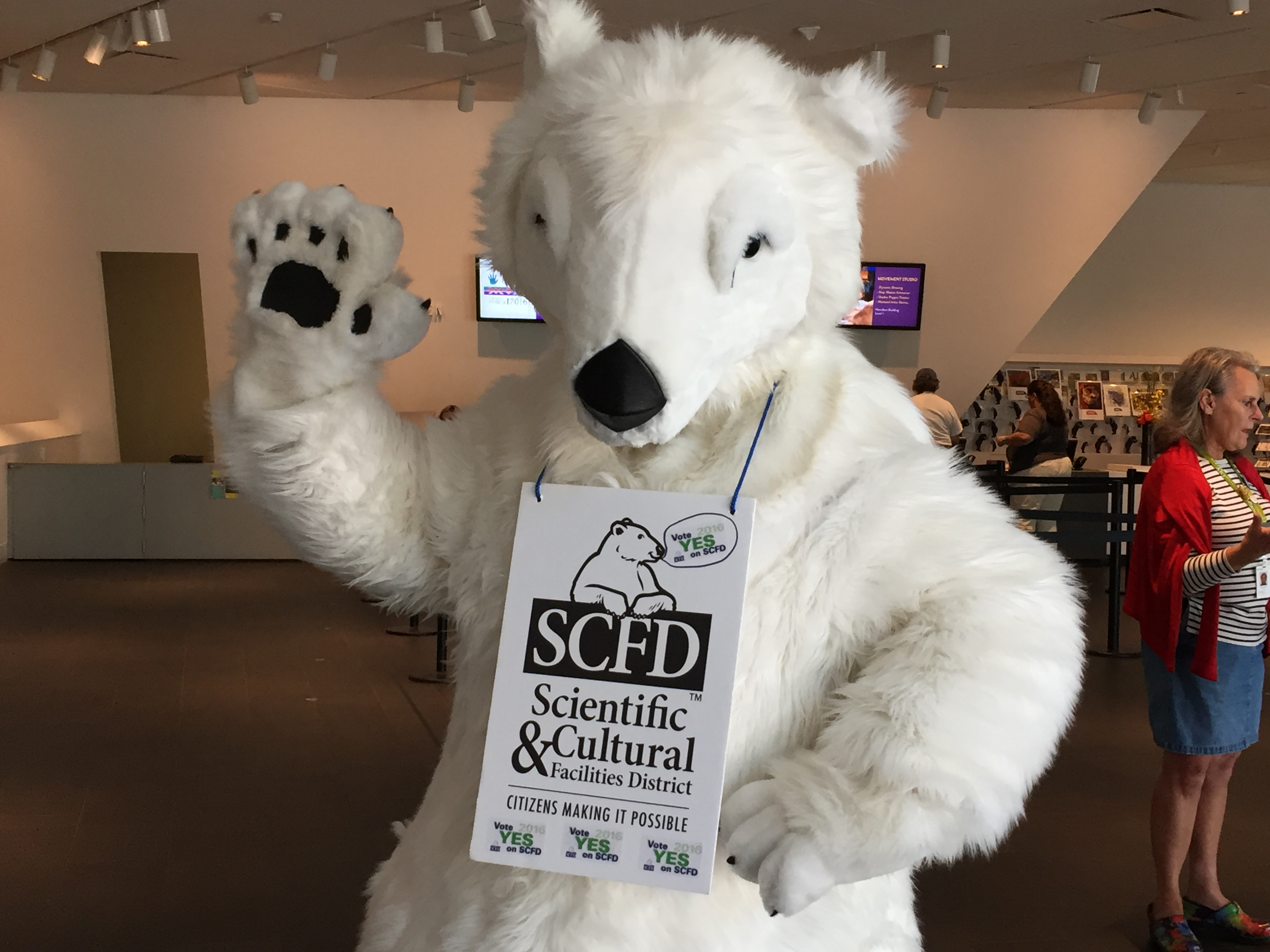 Photo: SCFD Mascot Popsicle The Polar Bear