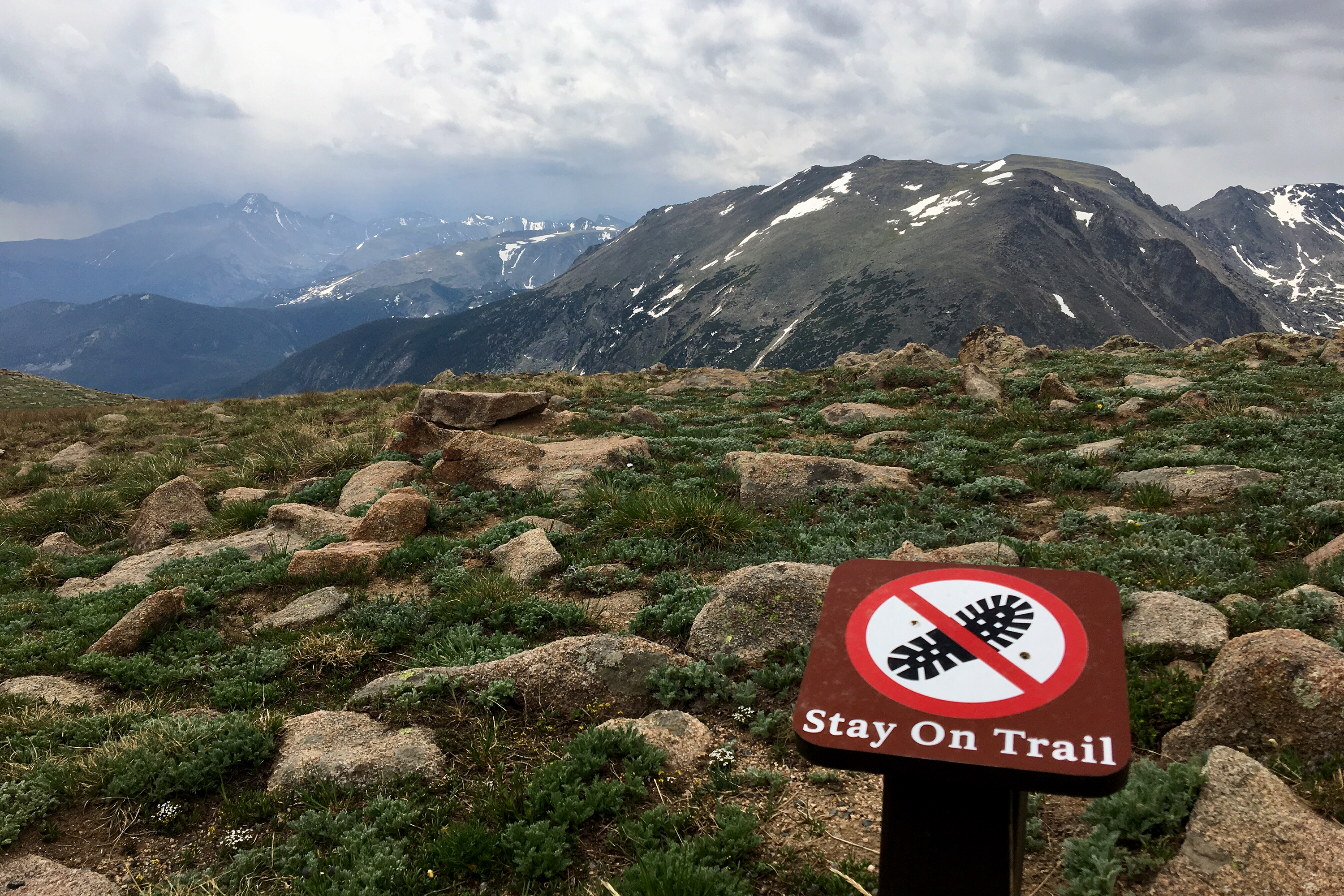 Photo: Hiking Rocky Mountain National Park 'Stay On The Trail' Sign