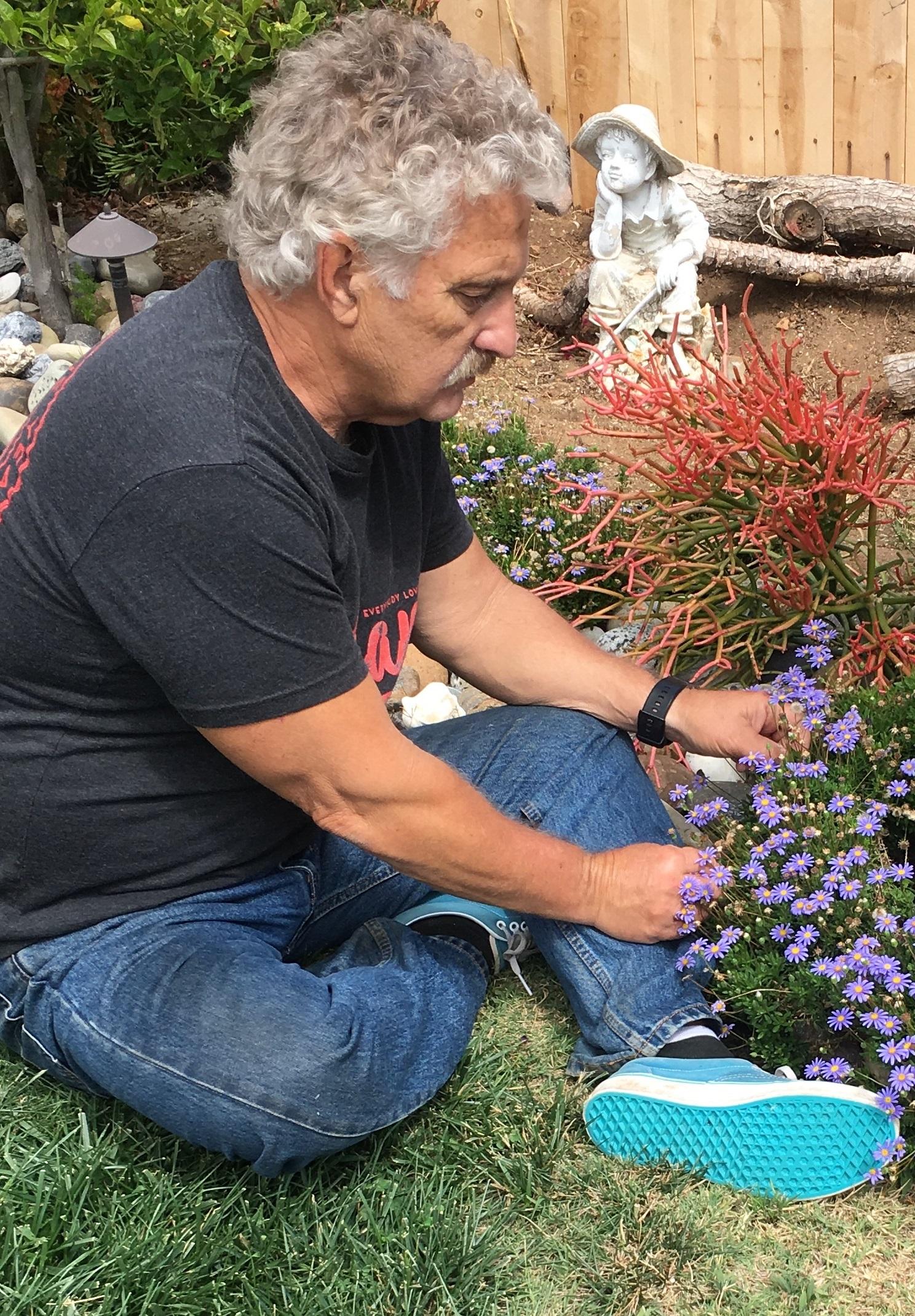 Photo: Frank in garden