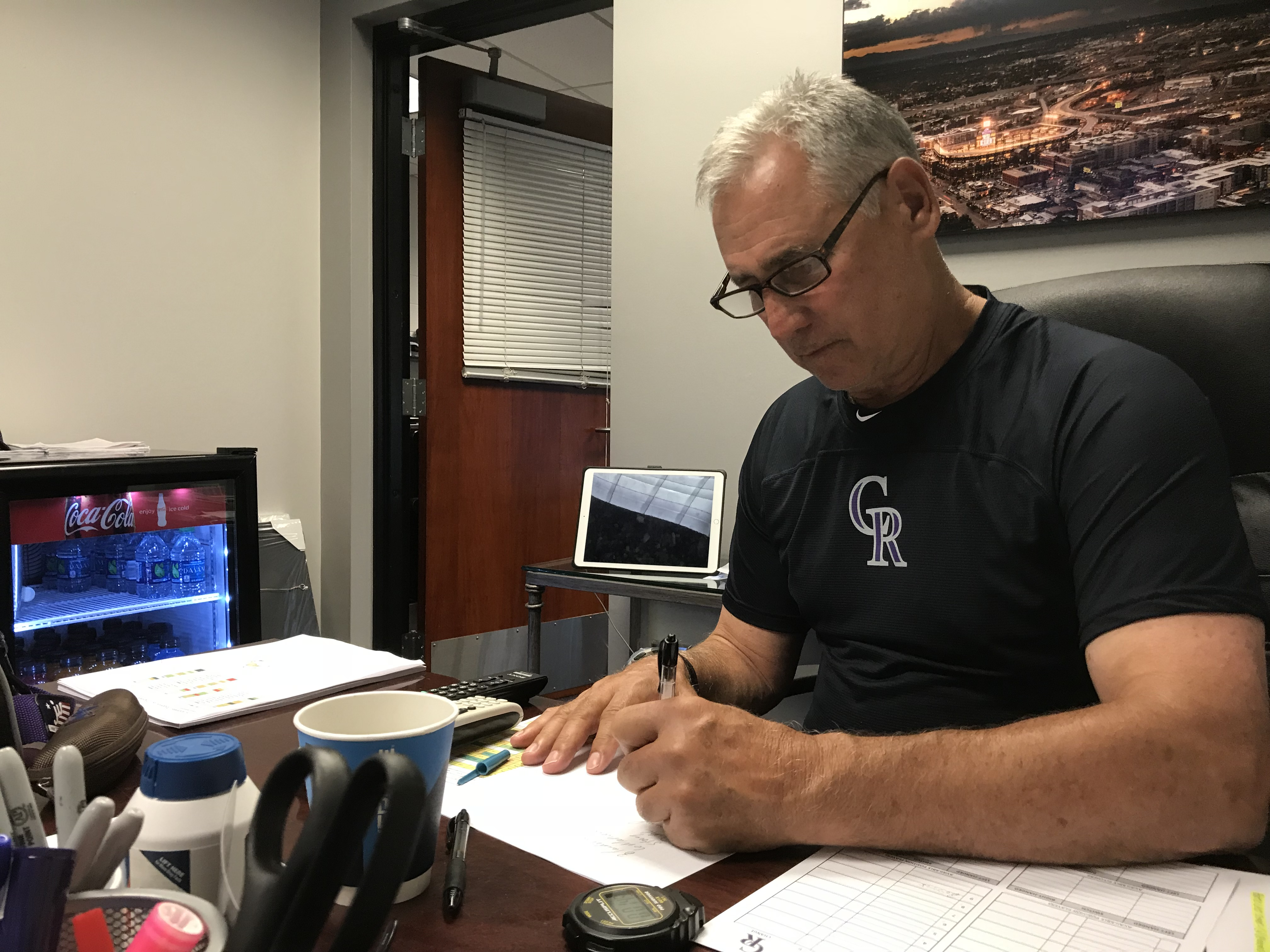 Photo: Rockies Manager Bud Black At His Desk