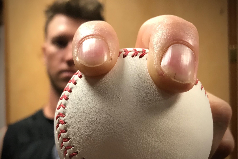 Photo: Rockies Pitcher Kyle Freeland Holding Baseball   Vela